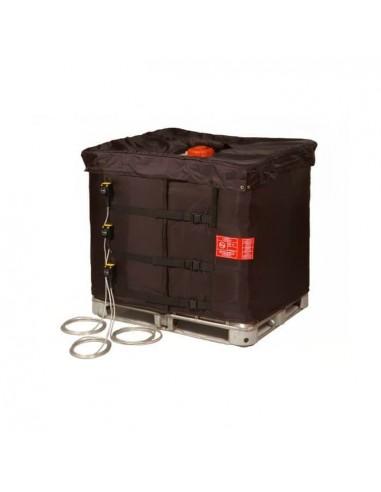 Couverture Chauffante avec Coiffe Isolante pour Cuve 1000L IBC - 3x1330W - (0 à 90°C)