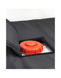 Coiffe isolante de couverture chauffante pour cuve IBC - ouverture 300x300mm