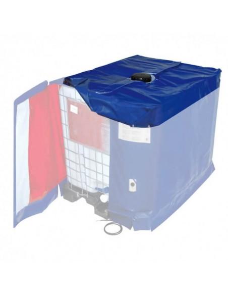 Couvercle calorifugé avec ouverture centrale Ø180mm pour Bâche Chauffante - Cuve 1000L IBC